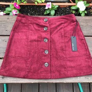 NWT corduroy Mini Skirt